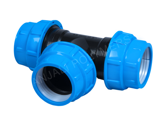HDPE Compression Fitting Tee
